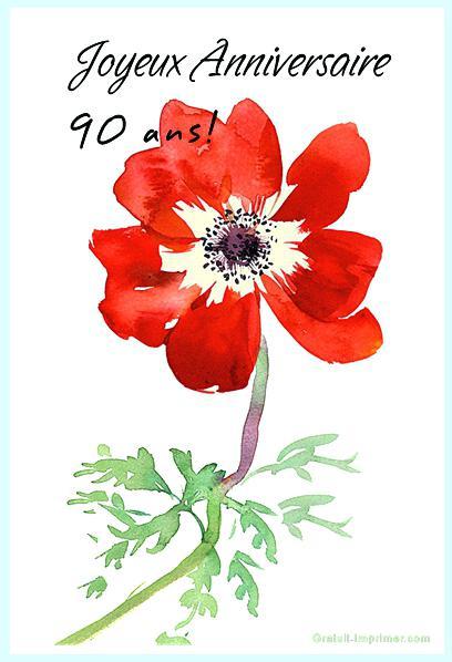 Carte Invitation Anniversaire Gratuite A Imprimer 90 Ans Elevagequalitetouraine