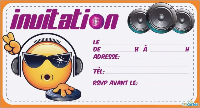 Carte invitation anniversaire ado telephone