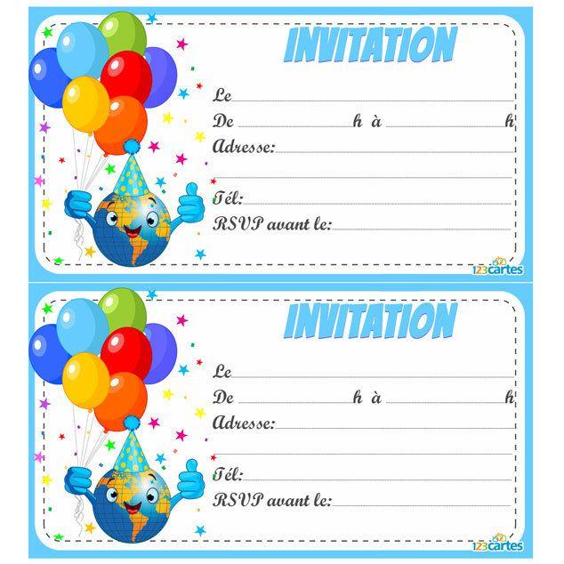 Carte anniversaire invitation gratuite a imprimer pour fille - Elevagequalitetouraine