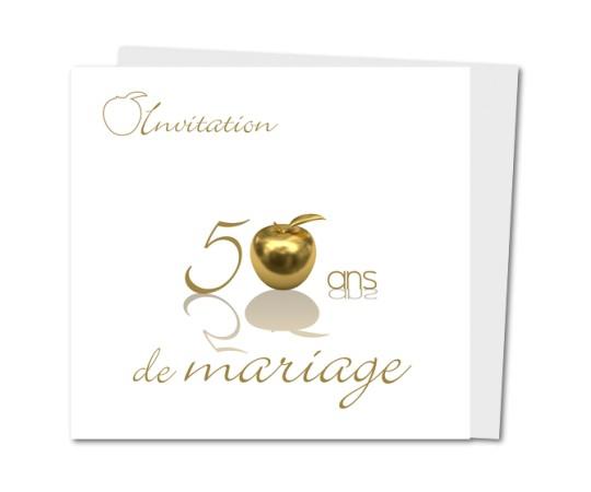 Carte invitation anniversaire 50 ans de mariage gratuite