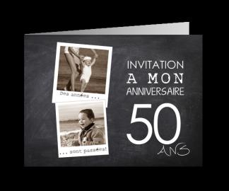 Carte d'invitation 50 ans anniversaire
