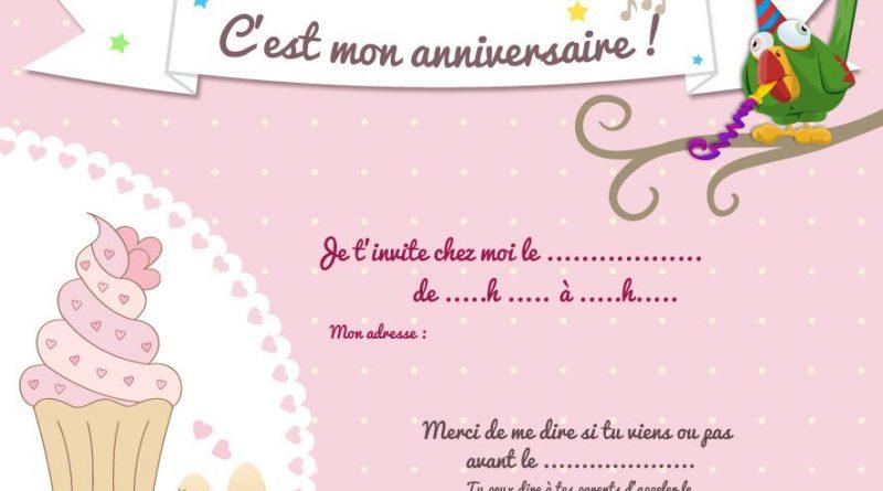Carte anniversaire gratuite à imprimer fille 8 ans