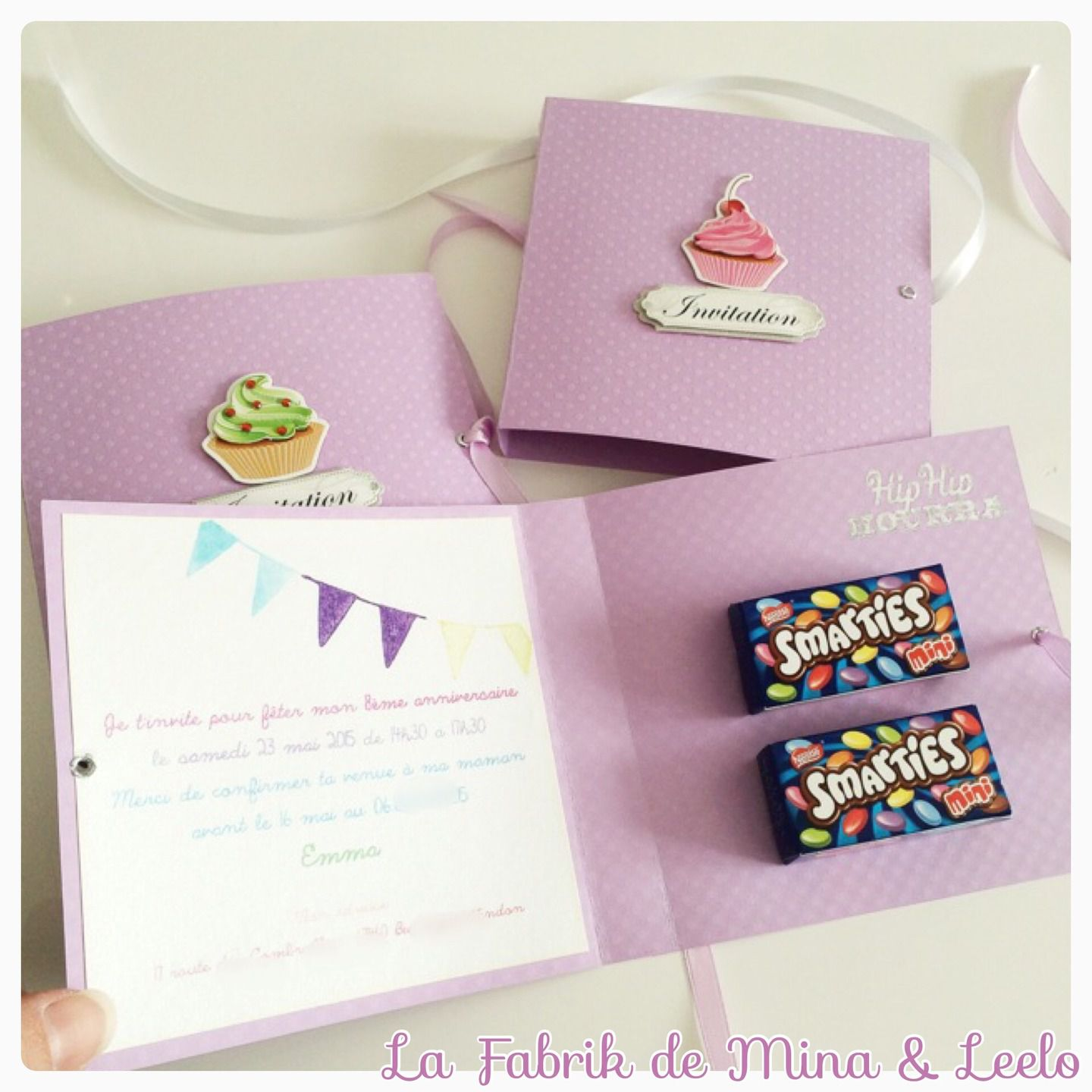 Carte invitation anniversaire originale enfant