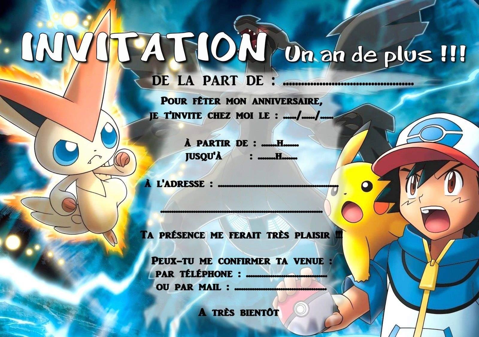 Carte invitation anniversaire gratuite à imprimer garcon 9 ans