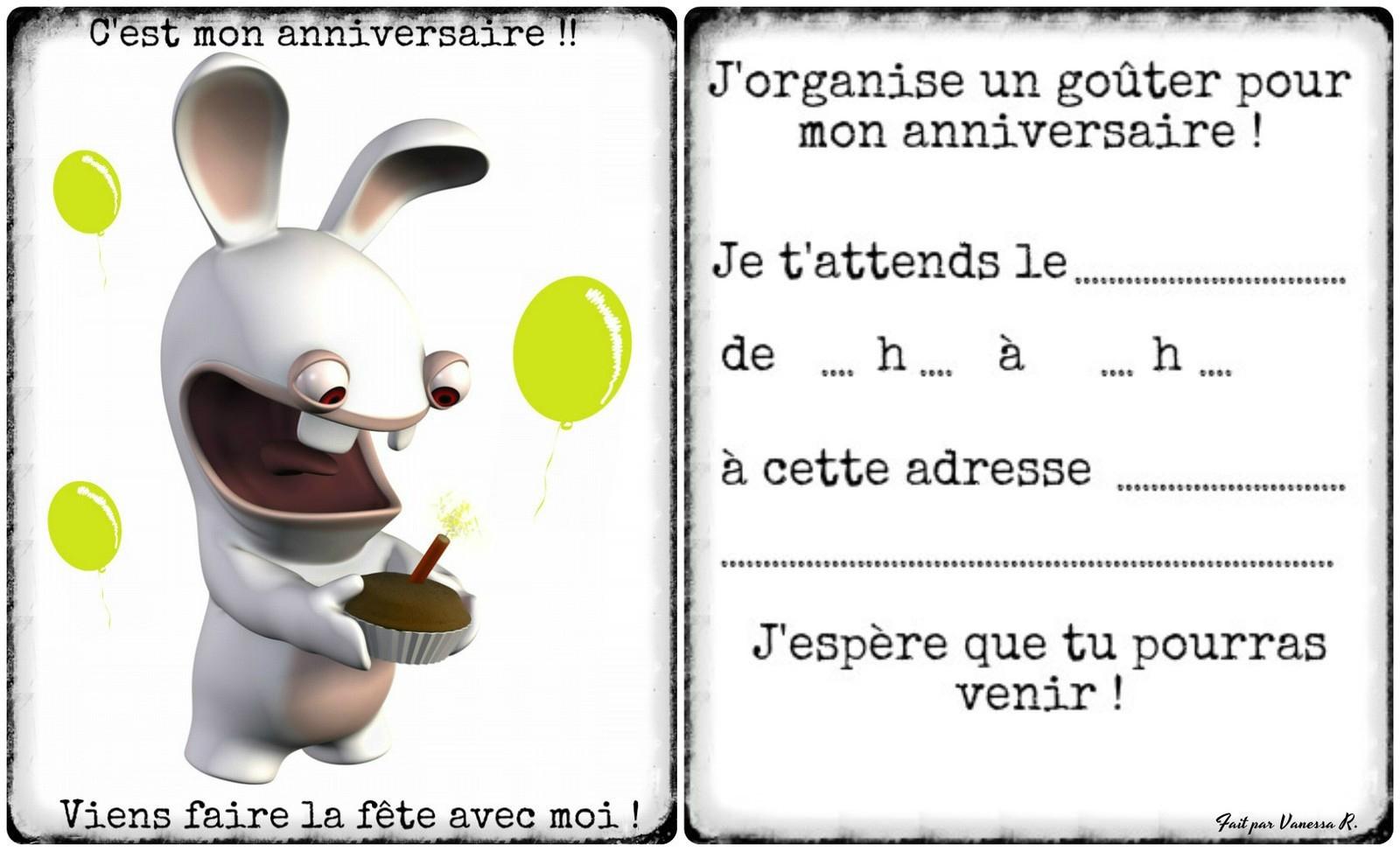 Carte invitation anniversaire gratuite garcon