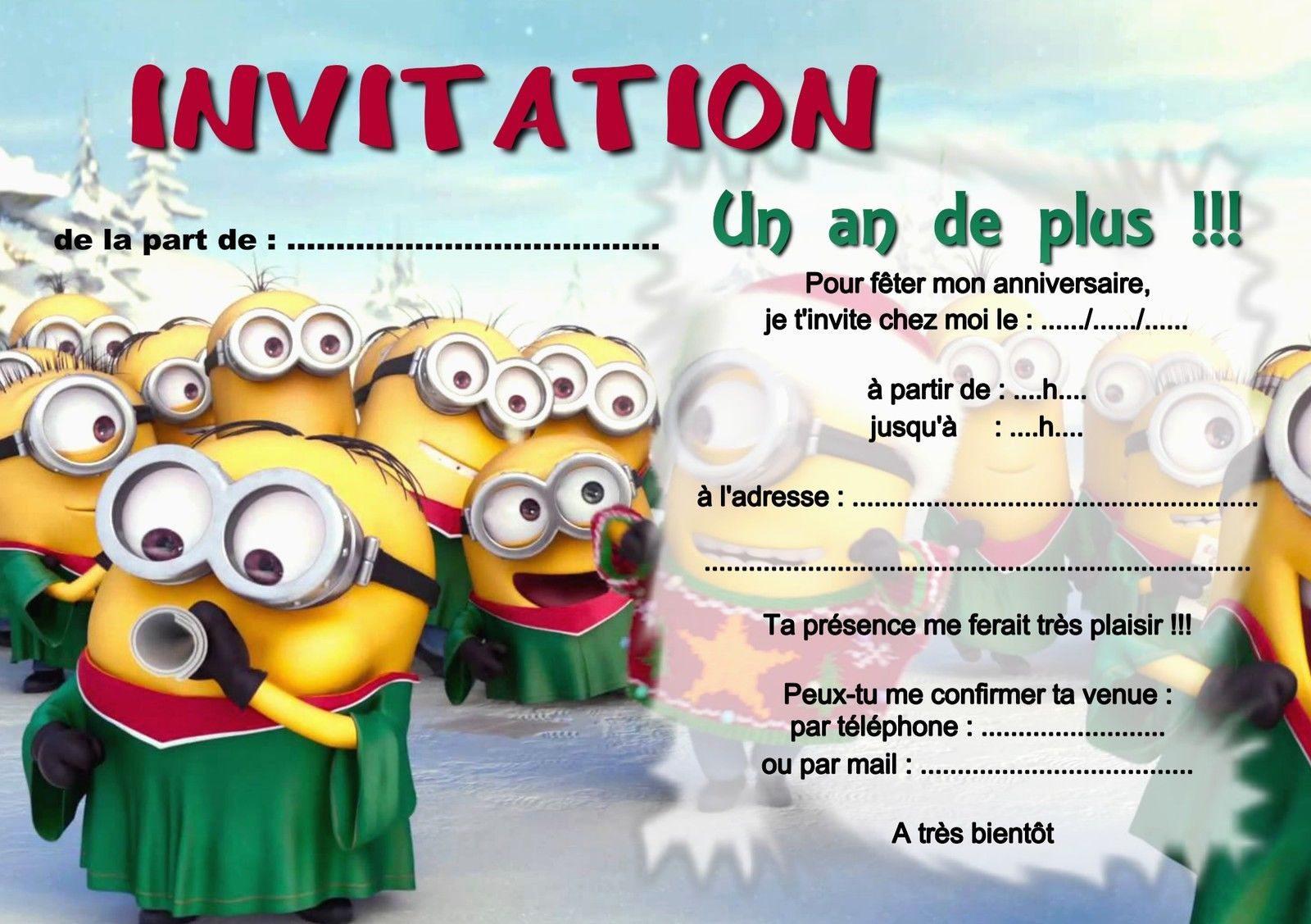 Carte D Invitation Anniversaire Gratuite A Imprimer Pour Garcon Elevagequalitetouraine
