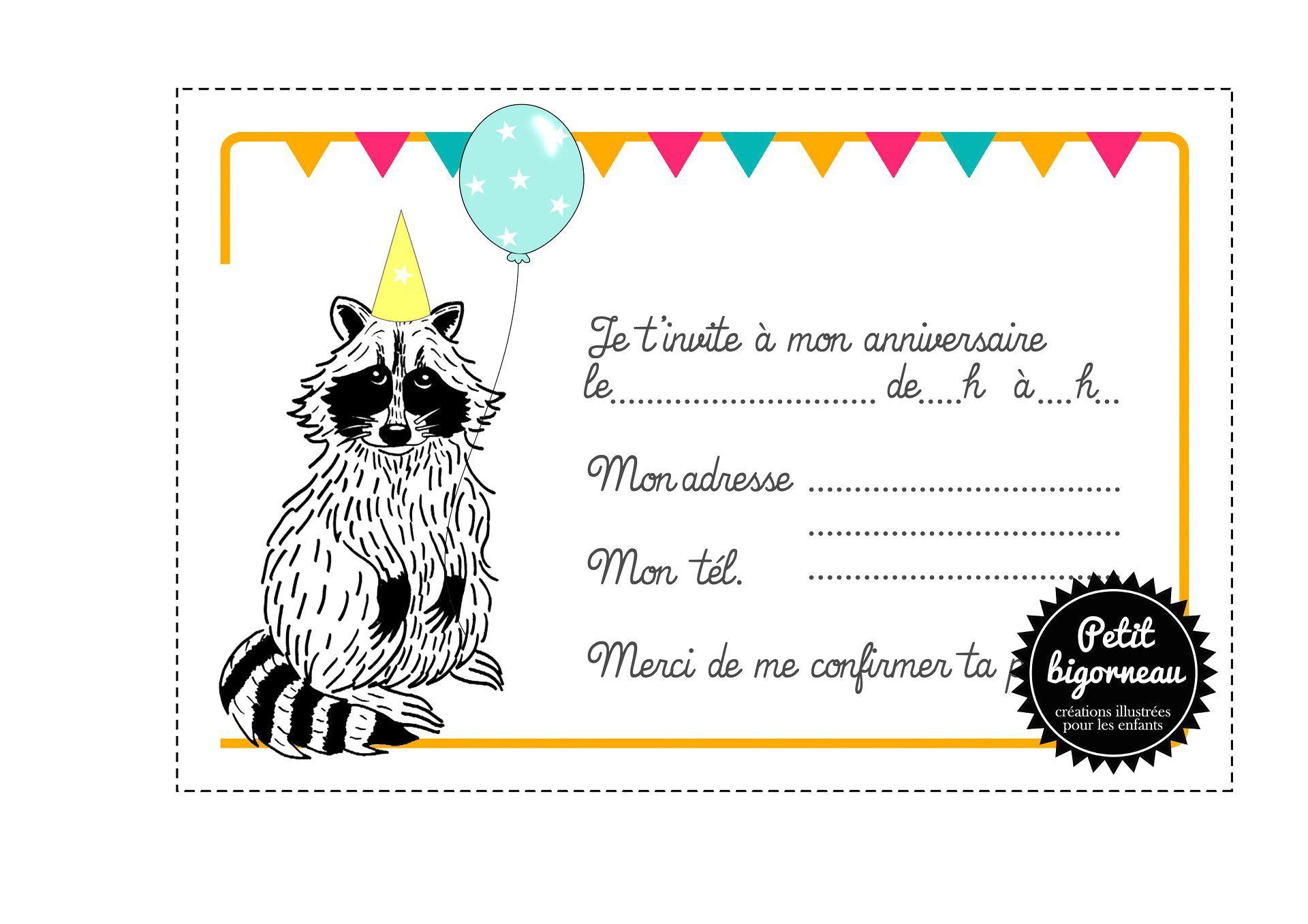 Carte d'invitation anniversaire gratuite à imprimer pour fille 10 ans - Elevagequalitetouraine