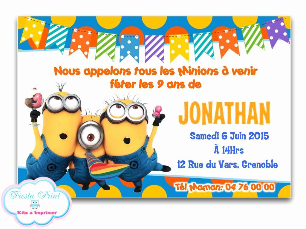 Carte invitation anniversaire rigolotte