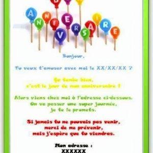 Texte invitation humour anniversaire