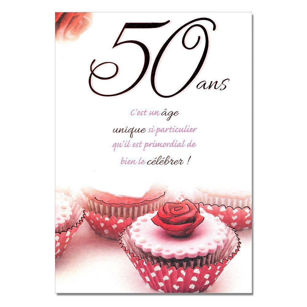 Carte invitation anniversaire 50 ans a imprimer gratuitement