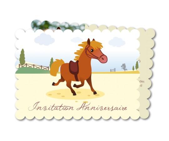 Carte anniversaire equitation