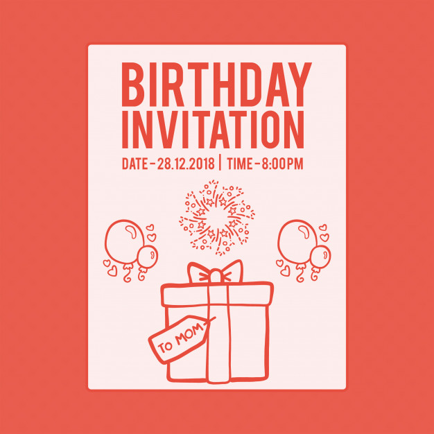 Fond carte invitation anniversaire