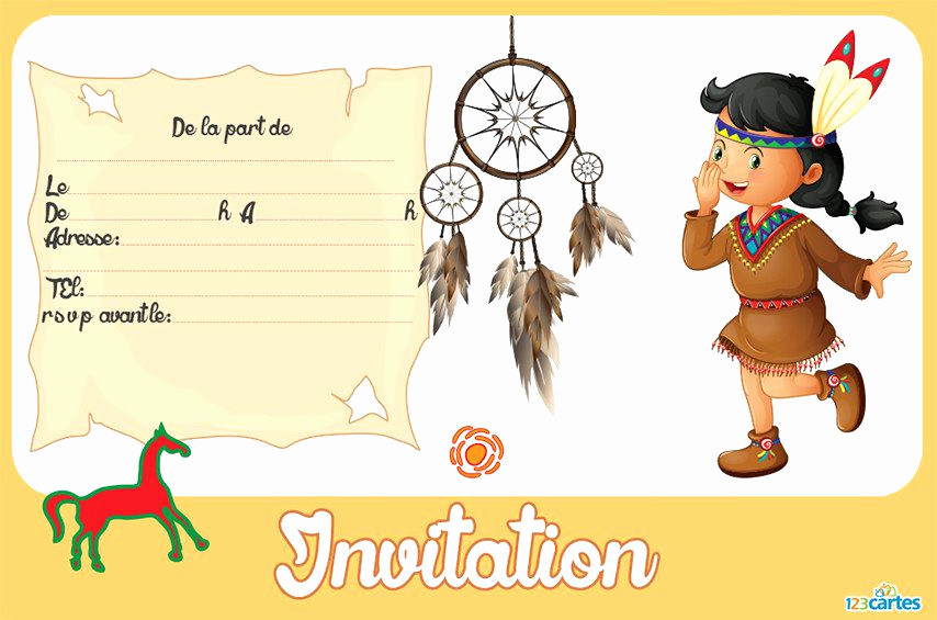 Carte Invitation Anniversaire Fille Smiley