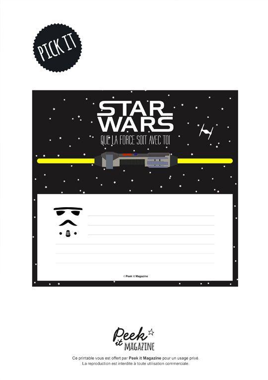 Carte anniversaire a imprimer star wars