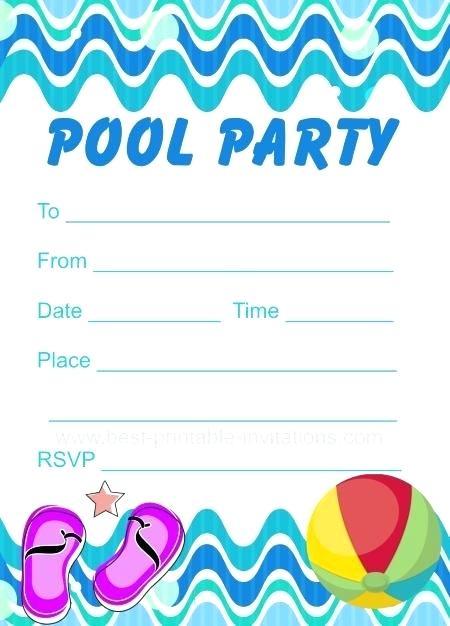 Carte anniversaire theme piscine