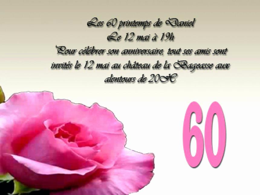 Texte Pour Anniversaire 60 Ans Femme Gratuit