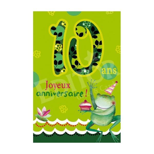 Carte anniversaire fille 10ans