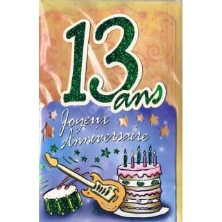 carte anniversaire 13 ans Carte anniversaire 13 ans garcon   Elevagequalitetouraine