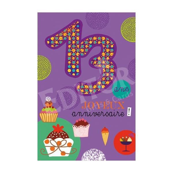 Carte joyeux anniversaire adolescente
