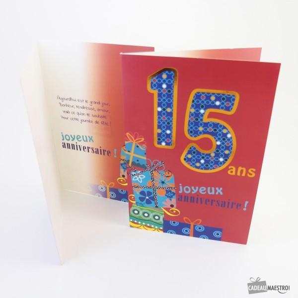 Carte Anniversaire Jeune Fille 15 Ans Elevagequalitetouraine