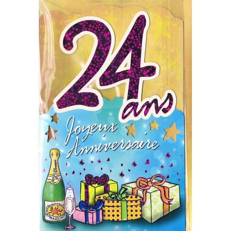 Carte Joyeux Anniversaire 24 Ans Elevagequalitetouraine