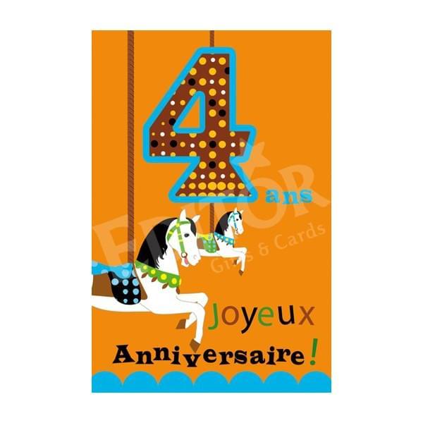 Carte anniversaire 4 mois