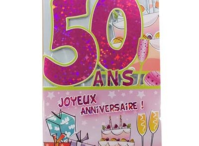 Carte joyeux anniversaire à imprimer 50 ans