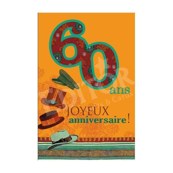 Carte Joyeux Anniversaire 60 Ans Homme Elevagequalitetouraine