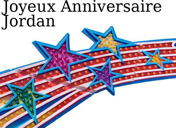 Carte anniversaire jordan