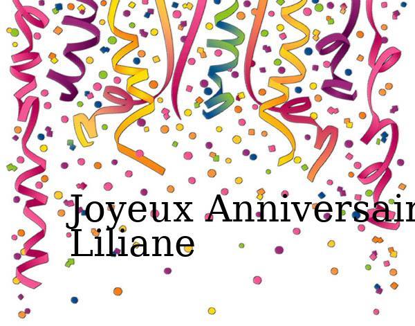 Carte anniversaire liliane