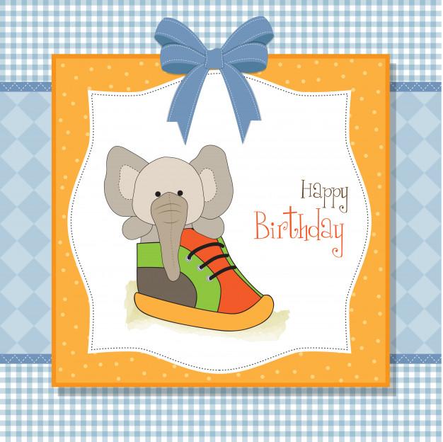 Carte joyeux anniversaire chaussure