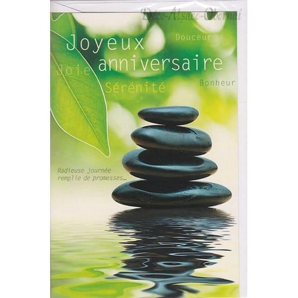 Carte joyeux anniversaire zen