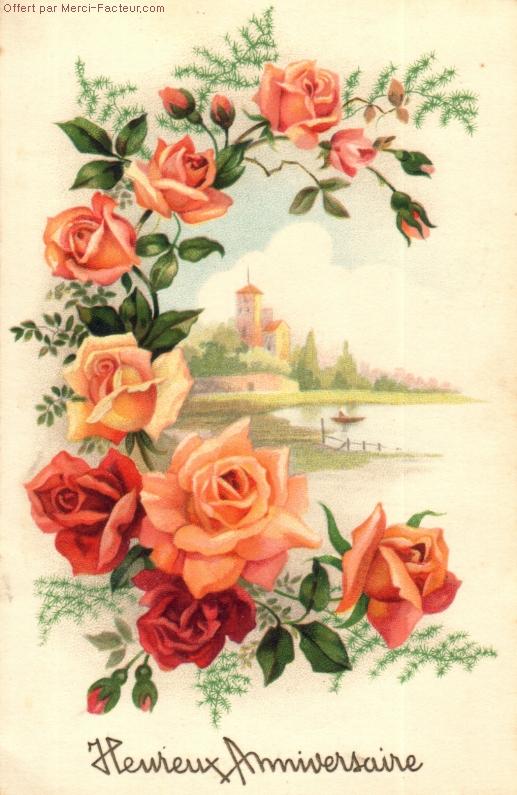 Carte postale a imprimer pour anniversaire gratuit