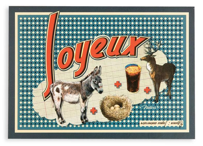 Carte joyeux anniversaire vintage