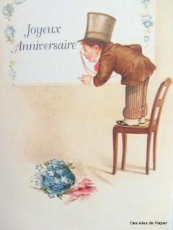 Carte ancienne joyeux anniversaire