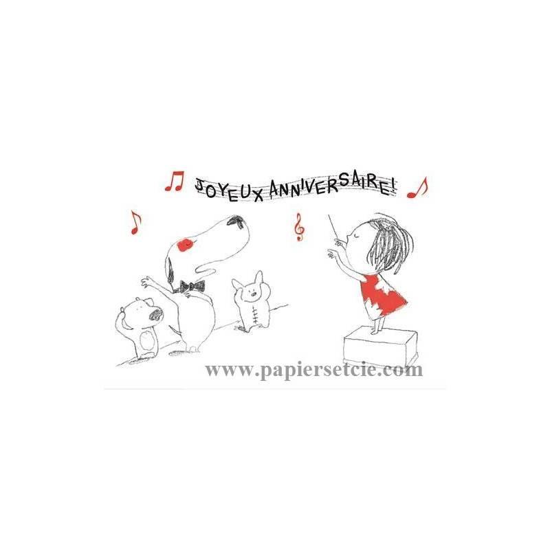 Carte joyeux anniversaire en musique