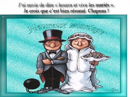 Carte anniversaire de mariage humour