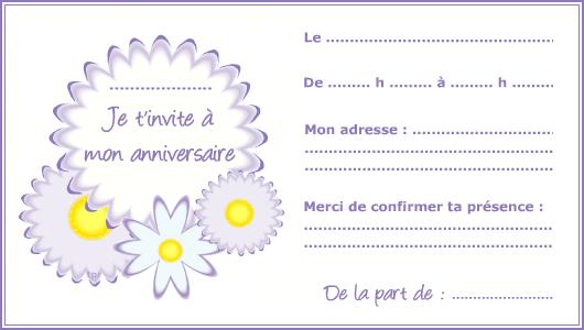 Carte d'invitation anniversaire en ligne gratuite