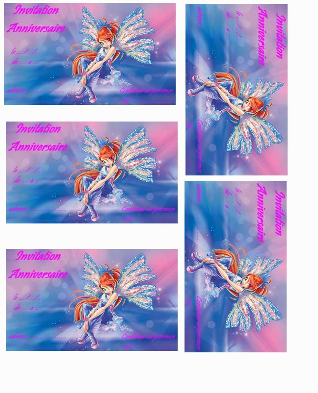 Carte Anniversaire Winx A Imprimer Elevagequalitetouraine