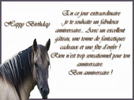 Texte invitation anniversaire cheval