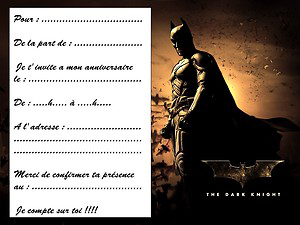 Message anniversaire batman