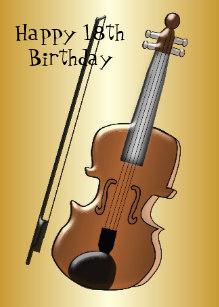 Carte anniversaire violon
