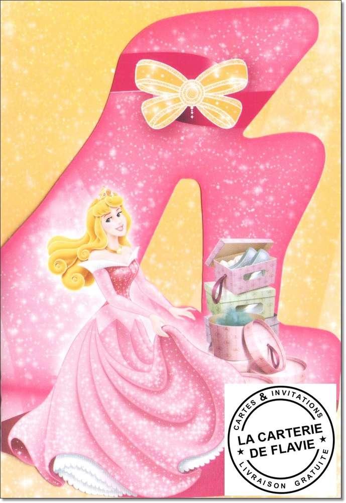 Carte princesse anniversaire