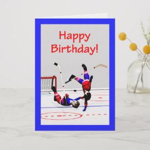 Carte anniversaire hockey