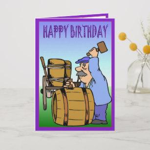 Carte anniversaire vignoble