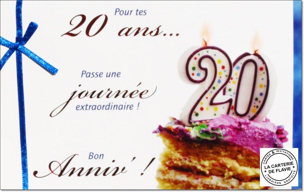 Carte Anniversaire 20 Ans A Imprimer Humoristique Elevagequalitetouraine