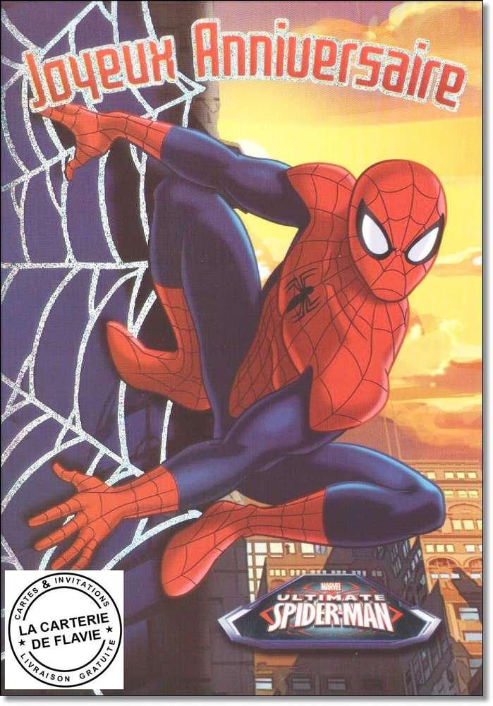 Carte anniversaire spider man