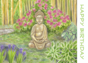 Carte anniversaire boudha