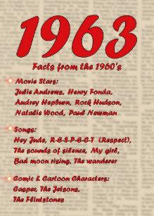 Carte anniversaire années 60