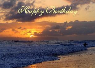 Carte joyeux anniversaire soleil